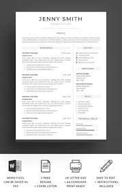 Modern Looking Font For Resume Resume Templates Design Resume Template Word Modern