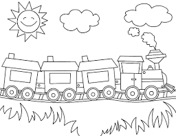 Small Picture Printable Coloring Pages Transportation Train For Preschool 54526
