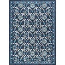 majesty navy 5 ft x 7 ft transitional area rug