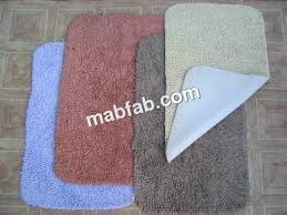 cotton bath rugs with latex backing simple slip bath toilet mat bathroom rug brand new rubber