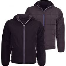 brave soul mens brave soul padded reversible hooded lightweight box quilted jacket coat