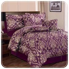double bed bedding set comforter purple bedding