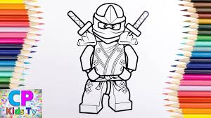 Lego Ninjago Green Ninja Lloyd Coloring Pages 6 How To Color Lego