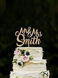 Custom Mr Mrs Cake Toppers For Wedding Name Cake Topper Rustic