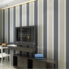 Q QIHANG High Texture Modern Minimalist Multicolor striped Non woven  Wallpaper Dark gray silver 0.53m*10m=5.3m2-in Wallpapers from Home  Improvement on ...
