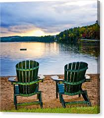 adirondack chairs on beach. Delighful Chairs Adirondack Chair Canvas Print  Wooden Chairs At Sunset On Beach By Elena  Elisseeva E