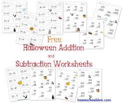 Subtraction Worksheets Halloween Worksheets for all | Download and ...
