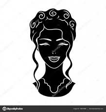 髪の毛と日本人の女の子のアバターですアバターと顔の単一の黒スタイル