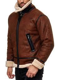 cool camel red bridge men s faux leather jacket lined casual vintage fashion faux fur coats aqvzbv