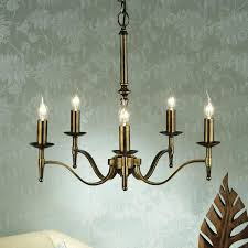 stratton antique brass 5 light chandelier