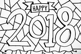 Happy New Year 2018 Kleurplaat Nieuwjaar Kleurplaat Kinderen