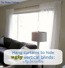 Cover Vertical Blinds Windows With Vertical Blinds And Curtains Curtain Menzilperdenet