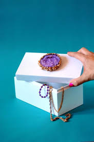 diy jewelry storage crystal topped jewelry box do it yourself crafts and projects