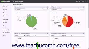 Online Snapshot Quickbooks Online Plus 2017 Tutorial Company Snapshot Intuit Training