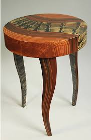 end tables round wood tiger river round table by ingela noren and daniel grant wood side