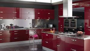 Red And Black Kitchen Designs Photo Of nifty Red And Black Kitchen Cabinets  Grey Images