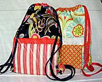 Drawstring Backpack Pattern Best Back In A Snap Pattern By Stitchin' Sisters