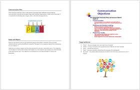 Communication Plan Template Word Communication Plan Template Microsoft Word Templates