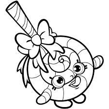 Shopkins Christmas Coloring Pages Lollipop Free Page Kids S X Pixels