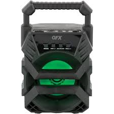 Qfx Portable Bluetooth Speaker With Microphone And Disco Light Qfx Rechargeable Bluetooth Party Mini Speaker With Disco Light