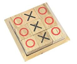 Wooden Naughts And Crosses Game Traditional Wooden Tic Tac Toe Noughts Crosses Game Amazonco 13