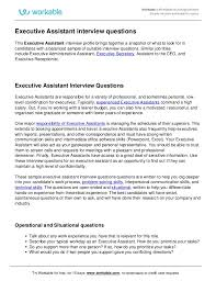 Interview Questions For Executive Assistants Executive Assistant Interview Questions