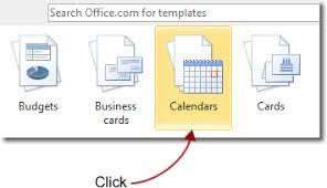 Office Com Calendar Templates Make A Calendar In Word