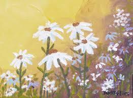 acrylic flower daisies daisy painting