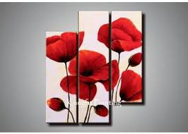 2018 100 handmade modern 3 panel wall art canvas abstract red flower oil painting canvas home deco gift from kfpainting 49 25 dhgate com on 3 panel wall art canvas with 2018 100 handmade modern 3 panel wall art canvas abstract red