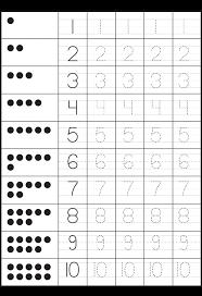 Worksheet #19891406: Kindergarten Worksheets Numbers 1 10 ... 1-5 ...