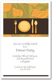 corporate dinner invite place setting autumn leaves dinner party invitations