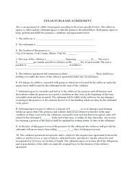 Commercial Sublease Template Free Agreement Word – Shopsapphire