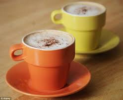 two coffee cups with coffee. Fine Coffee Coffee Was Found To Be Linked With Increasing The Length Of Pregnancy  A Daily To Two Cups With O
