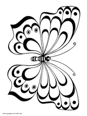 Butterfly Coloring Pages Mini 59 For Adults 8 Noscaorg