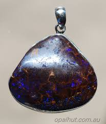 purple matrix boulder opal stg silver pendant more images