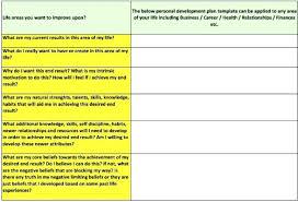 personal development portfolio template. Personal Development Plan Simple Template Example c2isco