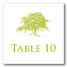 Wedding Table Numbers Table Cards Table Tents Reception