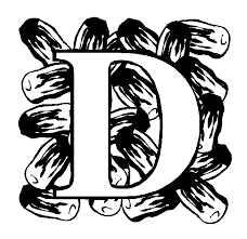 Small Picture Letter D Date coloring page