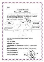 english exercises descriptive paragraph how to write descriptive paragraph level elementary age 7 10 s 60