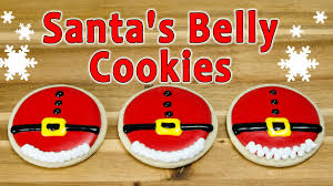 decorated round christmas sugar cookies. Wonderful Decorated Santau0027s Belly Christmas Cookies By Cupcakes And Cardio Inside Decorated Round Sugar T