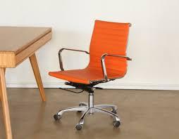 Eames style office chairs Designer Bridge Props Ny Bridge Furniture Props Orange Eames Style Office Chair