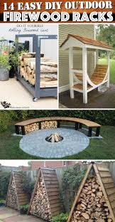 14 easy diy outdoor firewood racks to keep those logs perfectly safe