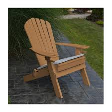 amish made recycled plastic adirondack chair with two cup holders and folding frame