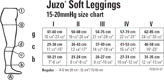 Juzo Size Chart Juzo Soft Footless Leggings 15 20mmhg