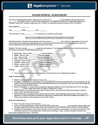 room rental agreements california room rental agreement form create a free room rental agreement