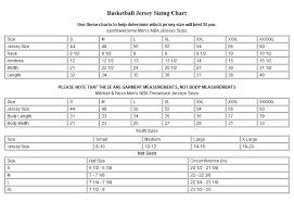 Adidas Nba Jersey Size Chart Www Bedowntowndaytona Com