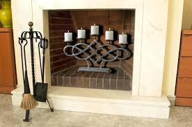 candle holder for inside fireplace log candle holder fireplace