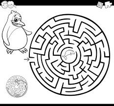Pagina Da Colorare Labirinto O Labirinto Scaricare Vettori Premium