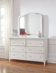 Ashley Faelene Chipped White Dresser & Mirror on sale at WCC ...
