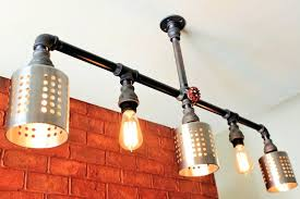 industrial pipe lighting. Galvanized Pipe Light Lighting Chandelier . Industrial R